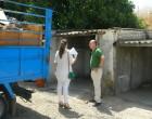 Se procede a la demolición de las cocheras que se encuentran frente al cuartel de la Guardia Civil de Écija.