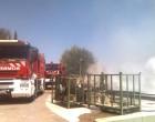Los bomberos de Écija intervienen con éxito en un incendio en Badolatosa