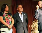 """Fostorito y el crítico Manuel Martín Martín de Écija, reciben la """"Espiga de oro"""" en el Festival de la Campiña, en El Rubio"""