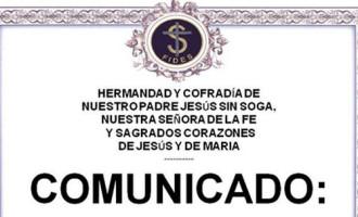 Elecciones en la Hermandad de Jesús Sin Soga de Écija