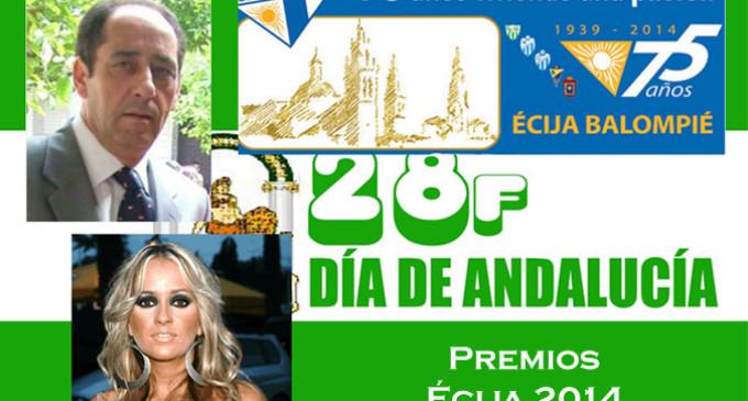 Ramón Freire, Sonia Priego y el Écija Balompié, recibirán los Premios de Écija del Día de Andalucía 2014