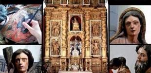 El artista Agustín Martín de Soto de Écija, interviene en la restauración de la Imaginería de Santa María La Blanca de Fuentes