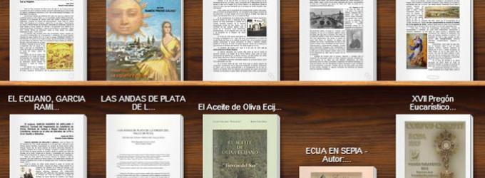 Expositor de lectura para el verano con algunas de las publicaciones realizadas en Ciberecija