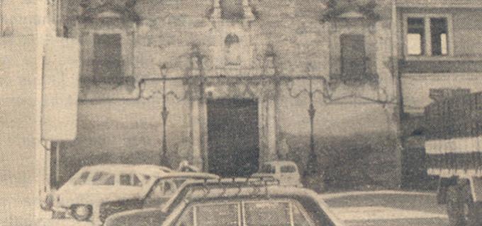 Publicación del año 1981 del nuevo destino para la iglesia de la Concepción de Écija después de  la caída del primer rayo