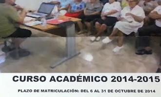 Comienza en Écija  el Curso Académico 2014/2015  del Aula de la Experiencia