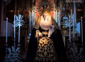 Besamanos a la Virgen de la Misericordia de la Hermandad de San Juan de Écija, por Nío Gómez.