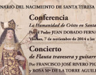 El V Centenario de Santa Teresa abre los actos culturales para los próximos meses de la Asociación Amigos de Écija