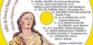 Recital a María Inmaculada del Taller de Rapsodia y Poesía del Colectivo de Pregoneros de Écija