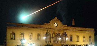 La estela blanca dejada por un meteoro en 1924, desde Talavera de la Reina hasta Écija