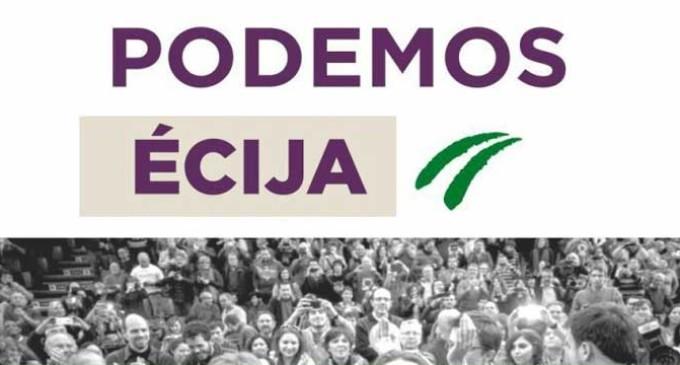 El Grupo Municipal de Écija Puede-Podemos se queja del mal control de los tiempos de intervención en los plenos