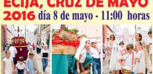 La Hermandad del Resucitado organiza la 35 edición de las Cruces de Mayo en Écija