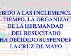 La organización de la Cruz de Mayo decide suspender la Procesión de Pasos