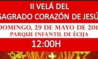 La Hermandad de Jesús Sin Soga de Écija, aplaza para mañana  la II Velá del Sagrado Corazón de Jesús