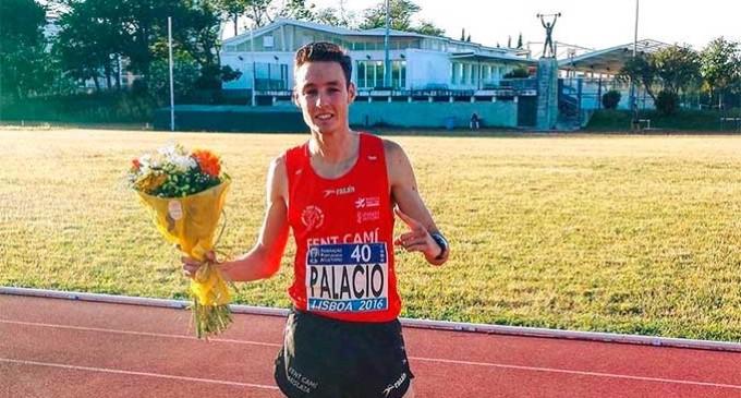 El atleta de Écija, David Palacio, gana su primer Meeting internacional en Lisboa