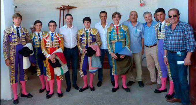 Jose Antonio Alcalde, alumno de la Escuela Taurina de Écija participó en la novillada emitida por Canal Sur
