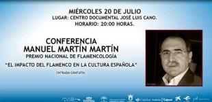 El Flamencólogo de Écija, Manuel Martín, diserta el Algeciras sobre el impacto del Flamenco
