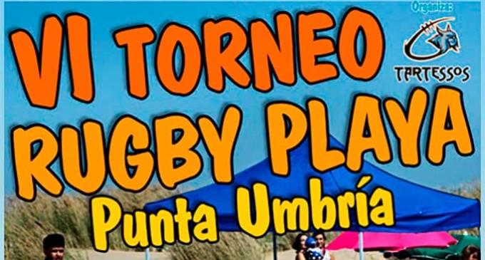 El equipo de rugby de Écija jugó en el VI Torneo de Rugby Playa Punta Umbría