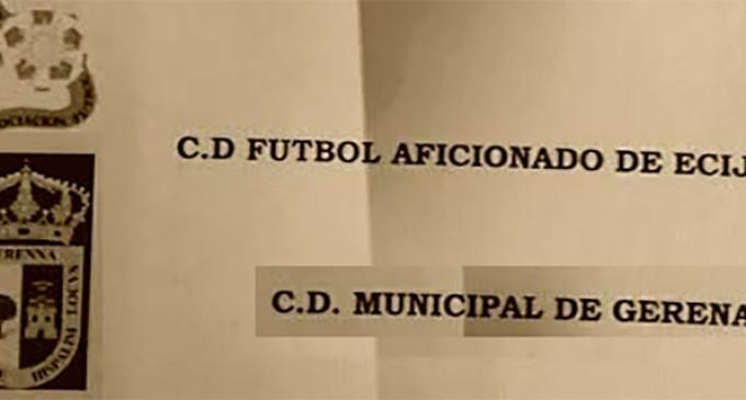 Partido debut del equipo alevín, C.D. Fútbol Aficionado de Écija