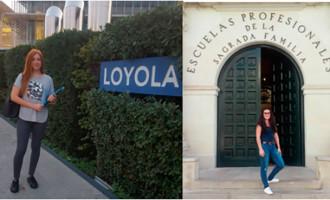 Dos alumnas de  la Safa de Écija becadas por la Universidad de Loyola y la Escuela Magisterio de Úbeda