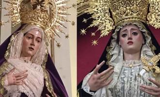 Las Vírgenes de las hermandades de Écija cambian su atuendo para el mes de noviembre