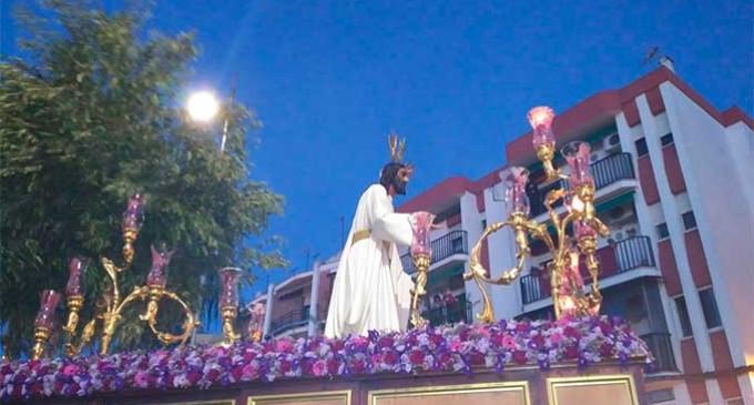 La Hermandad del Olivo inició los recorridos procesionales de la Semana Santa de Écija (video)