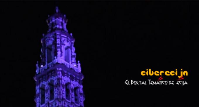 Día Iternacional de Autismo. Hace tres años que la torre de San Juan de Écija se iluminó de azul