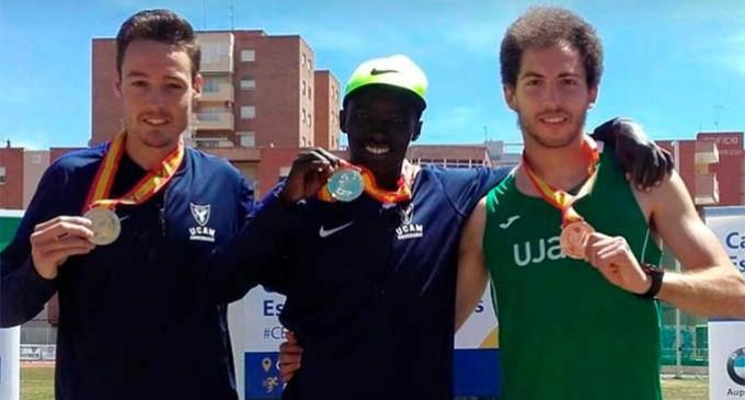El atleta David Palacio obtiene el subcampeonato de España en 800 metros