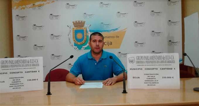 El grupo IU-Écija eleva una enmienda a la Junta para la construcción de un Gimnasio-Sala Cubierta en el I.E.S San Fulgencio