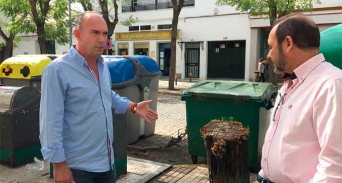 El Partido Popular denuncia el mal estado en el que se encuentra la  zona en la Avenida Auxiliadora y la Avenida de los Emigrantes
