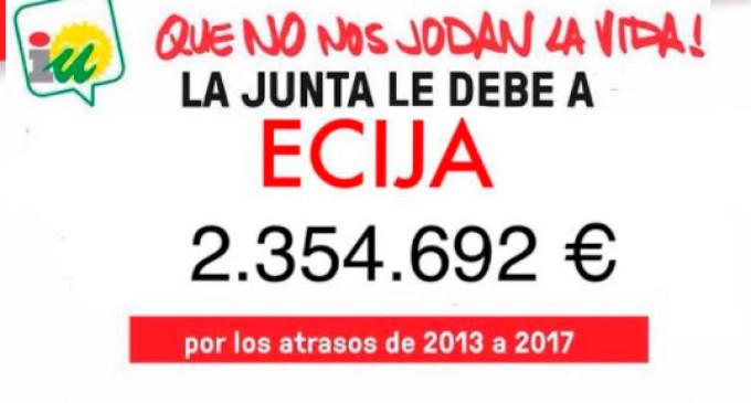 IU-Écija se suma a la reclamación de la deuda de la Patrica al Ayuntamiento por valor de 2.354.692 €