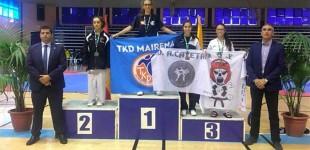 La Taekwondista de Écija, Andrea Oterino, gana tres medallas de oro en campeonatos de Andalucía