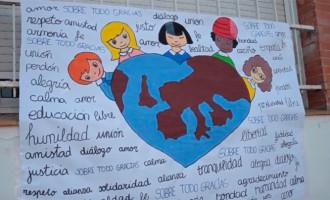 Los alumnos de las Escuelas Profesionales SAFA de Écija, celebraron un año más el día de la Paz (video)