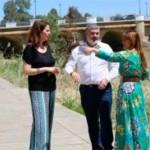 """La Secretaria General del PSOE de Sevilla, Verónica Pérez, visita Écija para reivindicar las obras """"necesarias"""" de la Presa de San Calixto"""