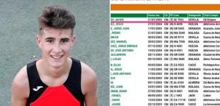 El Atleta de Écija Javier Prieto, ocupa el primer lugar en el Ranking Cadete de Andalucía y extraordinaria particpación de otros deportistas