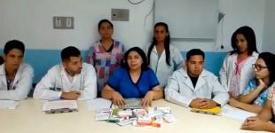 Agradecimiento a Écija del Hospital de Punto Fijo de Venuzuela por la entrega de medicamentos a través de Cáritas Parroquial de Santa Cruz