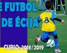 Inscripción al nuevo curso en la Escuela Municipal de Fútbol de Écija