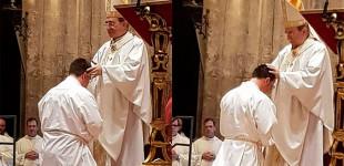 Gonzalo Fernández y Jesús Ojeda, de Écija, ordenados diáconos por el señor Arzobispo en la Catedral de Sevilla