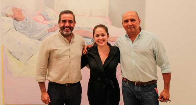 """Una representación de Ecija Vuela asistió a la inaguración de la Exposición de la Pintora de Écija, Virginia Bersabé, """"MORADA AL SUR"""""""