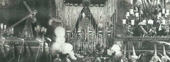 LAS COFRADIAS DE LA MADRUGADA, ARTICULO DE BENITO MAS Y PRAT, PUBLICADO EN LA ILUSTRACION ESPAÑOLA Y AMERICANA, DEL DIA 15 DE ABRIL DE 1882, DEDICADO A LA SEMANA SANTA DE SEVILLA por Ramón Freire