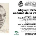 Conferencia en Écija, de Manuel Martín Martín, sobre Miguel Hernández