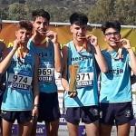 Los atletas de Écija en el Campeonato de España de Clubes de Campo a Través. Javi Prieto, medalla de oro con su Club