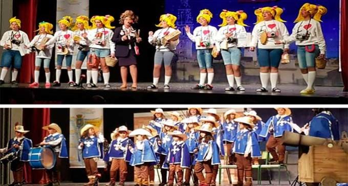 Mosqueteros y Turistas de SAFA-Écija, protagonistas en el Certamen de Agrupaciones del Carnaval Infantil