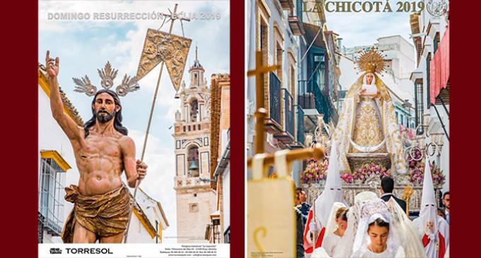 Se presentan el mismo día, dos carteles de la Semana Santa de Écija, dedicados a la Hermandad de la Resurrección