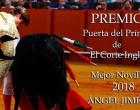 El novillero de Écija, Ángel Jiménez, mejor novillero 2018 de los premios Puerta del Príncipe