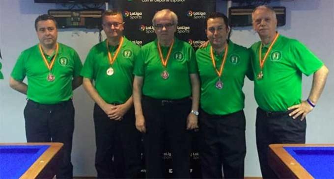 El jugador de Billar, Fernando Rodríquez, de Écija, medalla de bronce en el Campeonato de España de selecciones autonómicas
