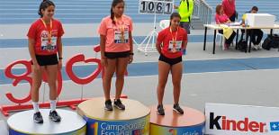 La atleta de Écija y alumna de la SA.FA., Valentina Pérez, se proclama Campeona de España en lanzamiento de peso en la categoría Sub-16