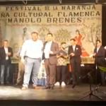 """El cantaor de Écija Manuel Gómez Torres, obtiene el primer premio del Festival organizado por la Peña Flamenca """"Manolo Brenes"""" en el XXXVII Festival de La Naranja (video)"""