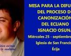 Misa para la difusión del Proceso de Canonización del ecijano Ignacio Osuna