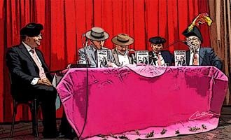 """CRÓNICA DE UNA NOCHE MUSICO-TAURINA EN LA MONUMENTAL ECIJANA. LA PLAZA DEL CASINO DE ARTESANOS DE ÉCIJA SUPLIÓ AL COSO DE PINICHI EN LA ALTERNATIVA DEL LIBRO DE PACO PEÑA: """"EL CANTE Y LOS TOROS COMO YO LOS SIENTO, PRIMOS HERMANOS"""" por Juan Palomo"""