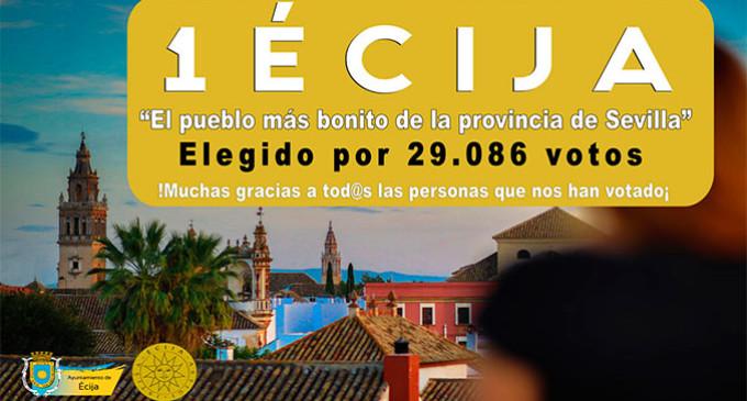 Écija gana el concurso organizado por el Diario de Sevilla, como el pueblo más bonito de la provincia.